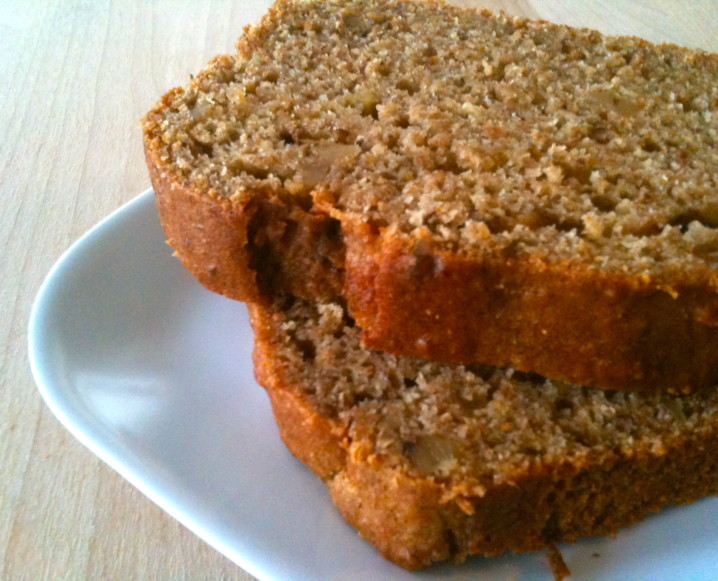 Banana Bread with Yogurt and Honey