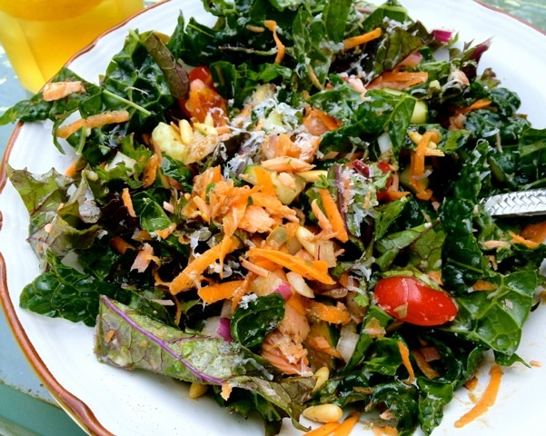 Tuscan Kale and Smoked Salmon Salad
