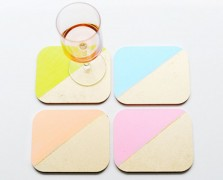 Make It By Monday: Color-Block Coasters