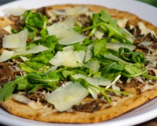 Green Truffle Pizza with Pineapple Kale-Aid