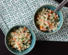 Cauliflower Couscous with Roasted Almonds and Apricots