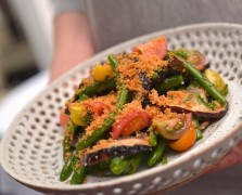 Josiah Citrin's Blue Lake Green Beans with Grilled Mushrooms