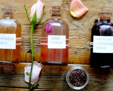 diy floral syrups cocktail recipe