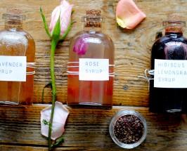 diy floral syrups cocktail recipe