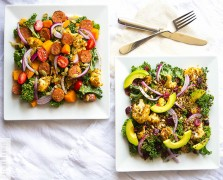 his and hers spicy cauliflower and kale salad recipe