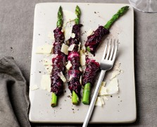 That's a Wrap: Pickled Radicchio-Wrapped Asparagus Spears