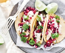 Yummy Supper's Pomegranate Fish Tacos
