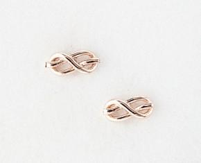 Gabriela Artigas Rose Gold Knot Studs