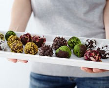 Raw Chocolate Truffles Served Scandinavian Style