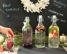 Healthy Holidays 101: Create This Beautiful Flavored Water Station