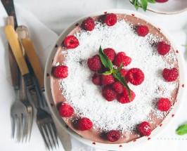 gluten-free chocolate cake raw raspberry paleo chocolate cake
