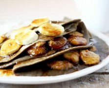 gluten free crepes bananas foster crepes