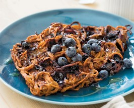 Brunch Genius: Spiralized Sweet Potato Hashbrowns