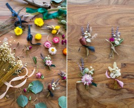 100 Layer Cake: Stunning DIY Boutonnières With Dried Flowers