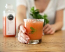 The Pressed Juicery Margarita: Mint, Grapefruit + Pink Salt