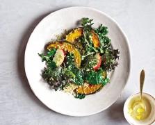 Clean Green Eats: Kabocha Squash Salad with Quinoa and Kale