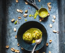Just Stop: Coconut Pistachio Ice Cream with Cardamom + Rose