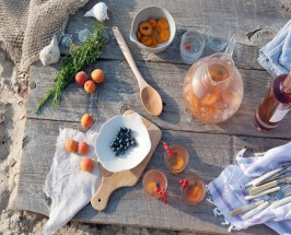 Spanish Rose: An Ibiza-Inspired Rosé Sangria With Honey Lavender Syrup