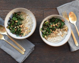 The Coziest Recipe Ever: Savory Steel Cut Oats With Shitake, Kale + Walnuts