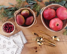 Eucalyptus, Twine + Winter Fruit: 3 DIY Table Settings We Love