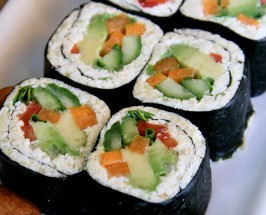 L.A. Bite Of The Month: M Cafe's Vegan Sushi Rolls With Faux Rice