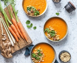 Skinny Soup: Roasted Carrot Soup with Detoxifying Spices