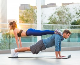 Partner Planks + Sweet Stacks: A Couples Workout He'll Actually Love