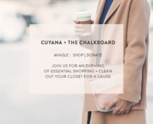 Shop. Mingle. Donate: Join Us For A Night of Giving Back With Cuyana
