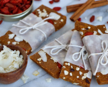 No-Bake Healthy Snack Stash: Sprouted Almond Goji Bars