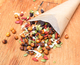 Snacking Remixed: Protein-Packed Trail Mix With Chocolate + Chickpeas