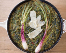 Breakfast Club: A Mixed Herb + Spring Onion Frittata Recipe