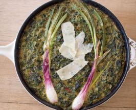Breakfast Club: A Mixed Herb + Spring Onion Frittata Recipe