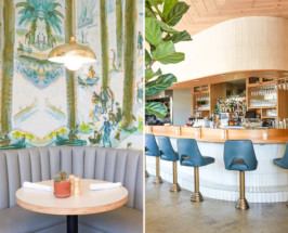 winsome this echo park eatery had us at plant heavy menu but the real star of the hip pseudo diner is the decor midcentury modern bar stools