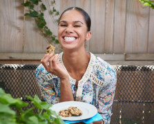 misty copeland eating healthy snacks