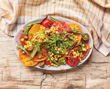 Southern Charm: Heirloom Tomato Salad With Charred Okra