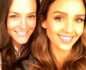 Close-up of Kelly LeVeque and Jessica Alba taking a selfie