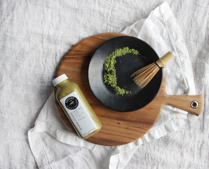 pressed juicery matcha almond milk
