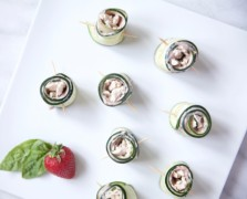 cucumber turkey rolls