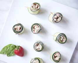 cucumber turkey rolls