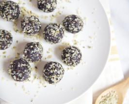 Blueberry Hemp Bites + Raspberry Cashew Butter Balls