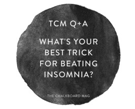 what's your best trick for beating insomnia