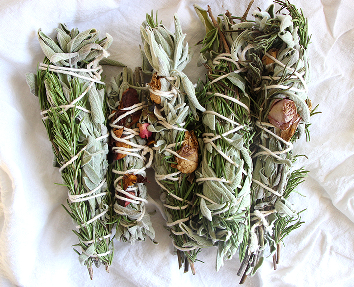 How To Make Sage Bundles with Roses + Evergreen Sprigs - The Chalkboard