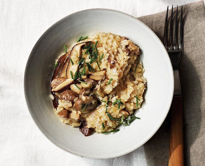 Martha Stewart's Pressure Cooker Mushroom Risotto Without Butter Or Cream