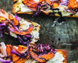 Cafe Gratitude's Grilled Vegetable Bruschetta with Caramelized Onions
